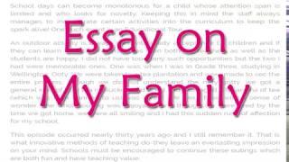 my family essay
