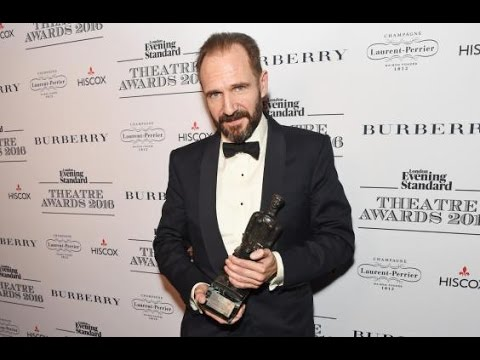 Ralph Fiennes wins best actor at the Evening Standard Theatre Awards 2016