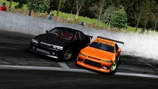 [HD] rFactor   Project D 2 31 MOD   Toyota Chaser & Nissan S15 Twin Drift  by Woogyun Kwon