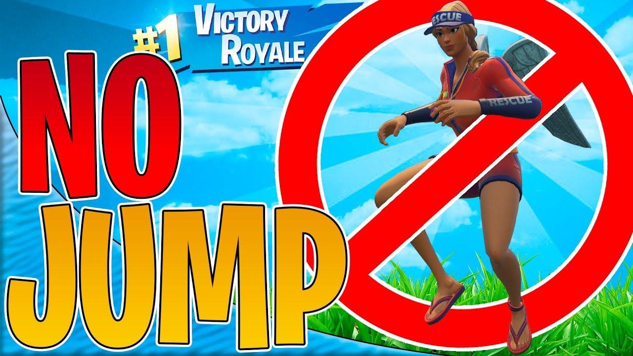 NO JUMP CHALLENGE! | Dansk Fortnite