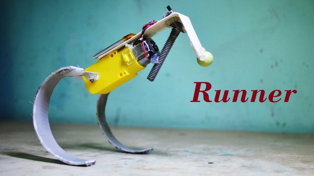 how to make a simple running hopping robot diy robot youtube