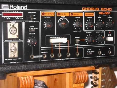 Roland RE-501 Chorus Echo - Tape Delay - Demo