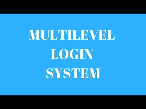 SIMPLE MULTILEVEL LOGIN SYSTEM USING HTML AND PHP