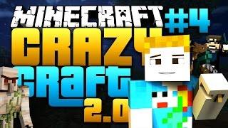 Minecraft: CRAZY CRAFT 2.0 - #4 | AIRPLANE LUCKY BLOCK TROLL