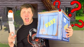 Unboxing a FORTNITE Supply Drop in REAL LIFE!! 2019 Fortnite Action Figures Battle Royale Collection