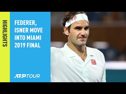 Highlights: Federer And Isner March Into Miami 2019 Final