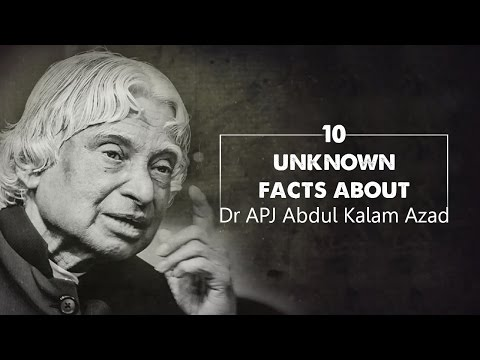 10 unknown facts about Dr APJ Abdul Kalam