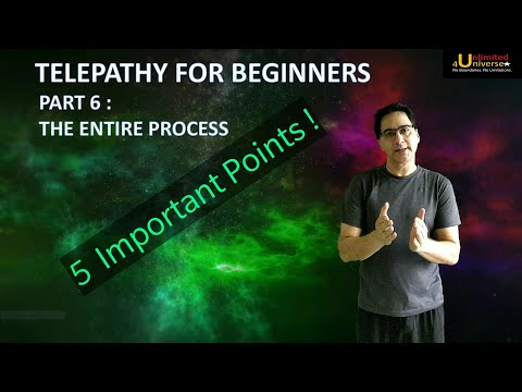 Telepathy | Telepathy For Beginners - Part 6 (The Entire Process) | No False Claims