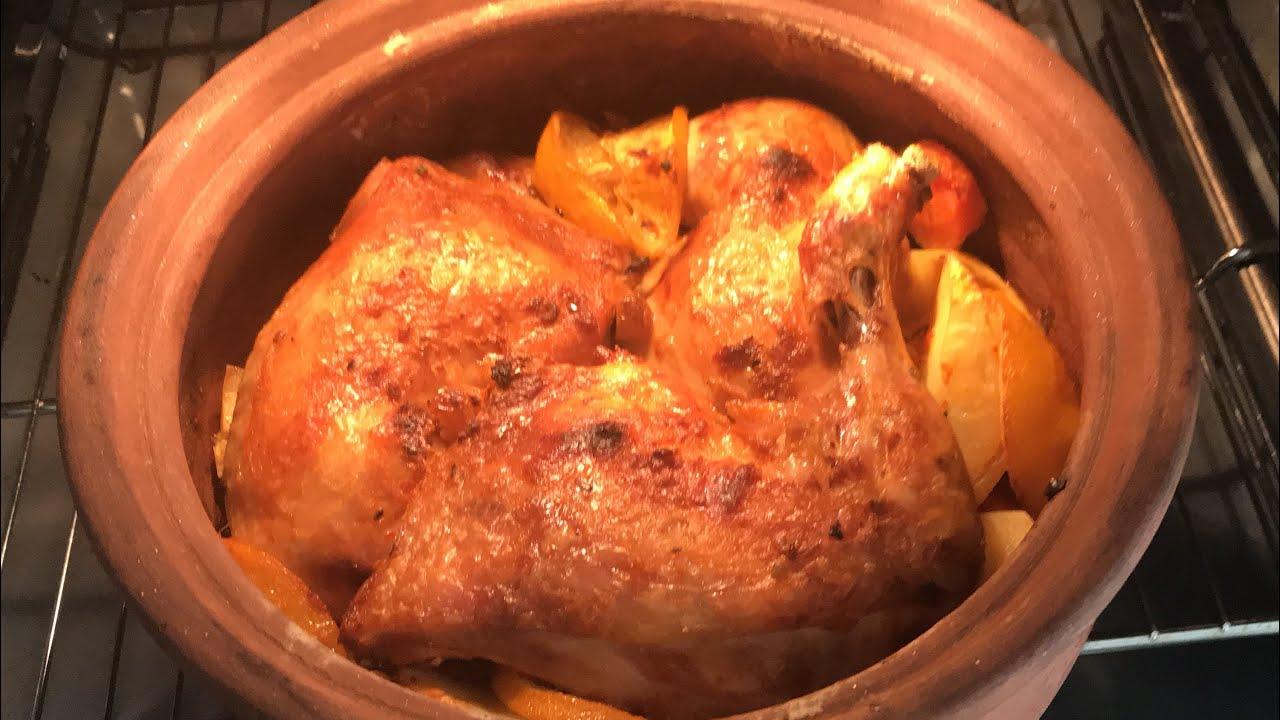 Fırında bütün tavuk tandır