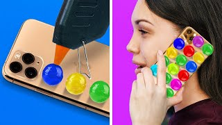 FUNNY PHONE CASE DECOR IDEAS || 5-Minute Recipes To Upgrade Your Phone