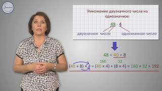 Математика 3 класс. Умножение многозначного числа на однозначное