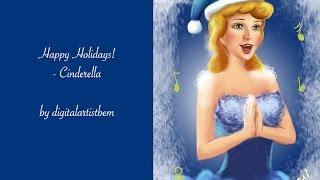 Cinderella Realistic Timelapse Digital Painting Christmas December Frozen