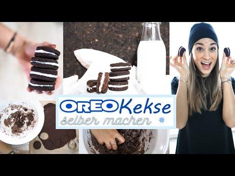 Oreo Kekse selber machen - gesundes Rezept ohne Zucker & Butter - vegan - einfaches DIY
