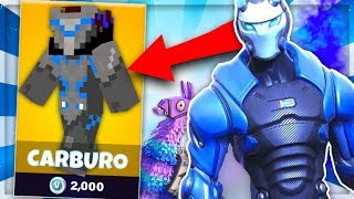 SKIN CARBURO DE FORTNITE DANS MINECRAFT ! - SKYWARS