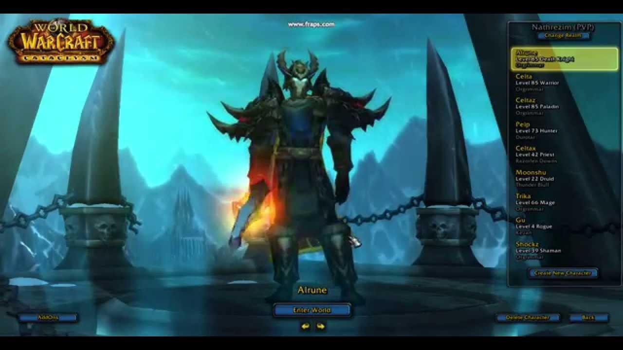 & WoW Cataclysm 4.3 - BEST Transmog for DK - YouTube