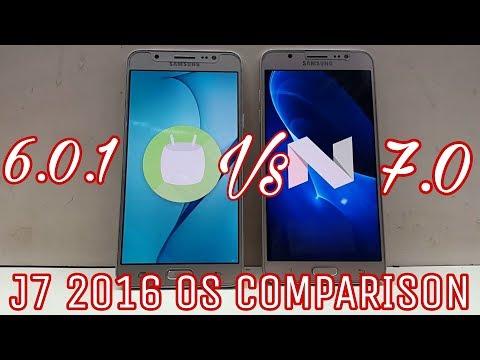 Galaxy J7 2016 official Nougat Vs Marshmallow full Comparison