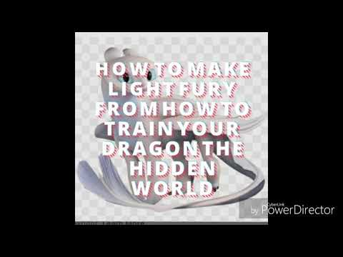 How to make Lego Light Fury from How to Train Your Dragon the Hidden World