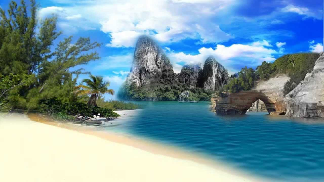 free hd natural beach relaxing sea video background