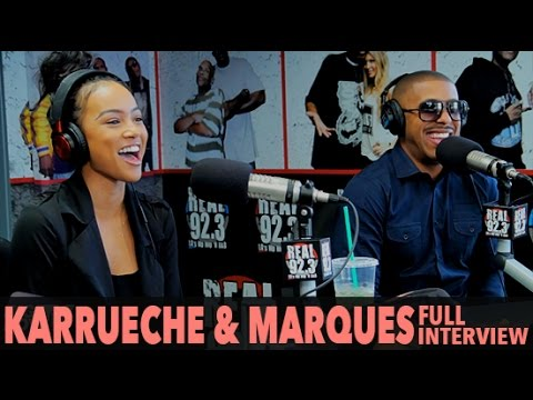 "Karrueche & Marques Houston on New Movie ""A Weekend with the Family"" (Full Interview) 