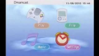 Sega Dreamcast Menu Walkthrough