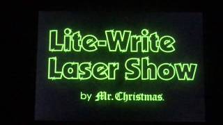 Mr. Christmas Programmable Light & Sound Laser Show In Action! Video