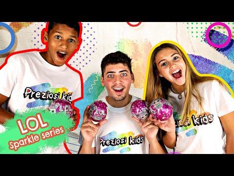Desafio LOL Surprise Sparkle com Tiago Bandeira, Pedro e Matilde | Preziosi Kids