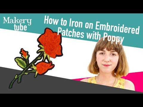 How To Iron On Embroidered Patches So They STAY On!