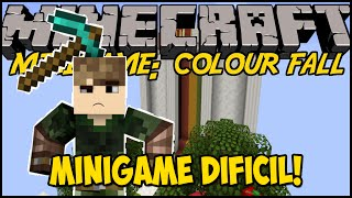 Minecraft: MINIGAME DIFÍCIL! - COLOUR FALL