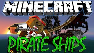 Minecraft PIRATE SHIP MODDED BattleDome (Archimedes Mod) Part 1 of 2
