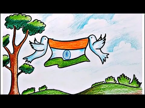 How To Draw Republic Day Special Image For Kids Drawing Of Indian