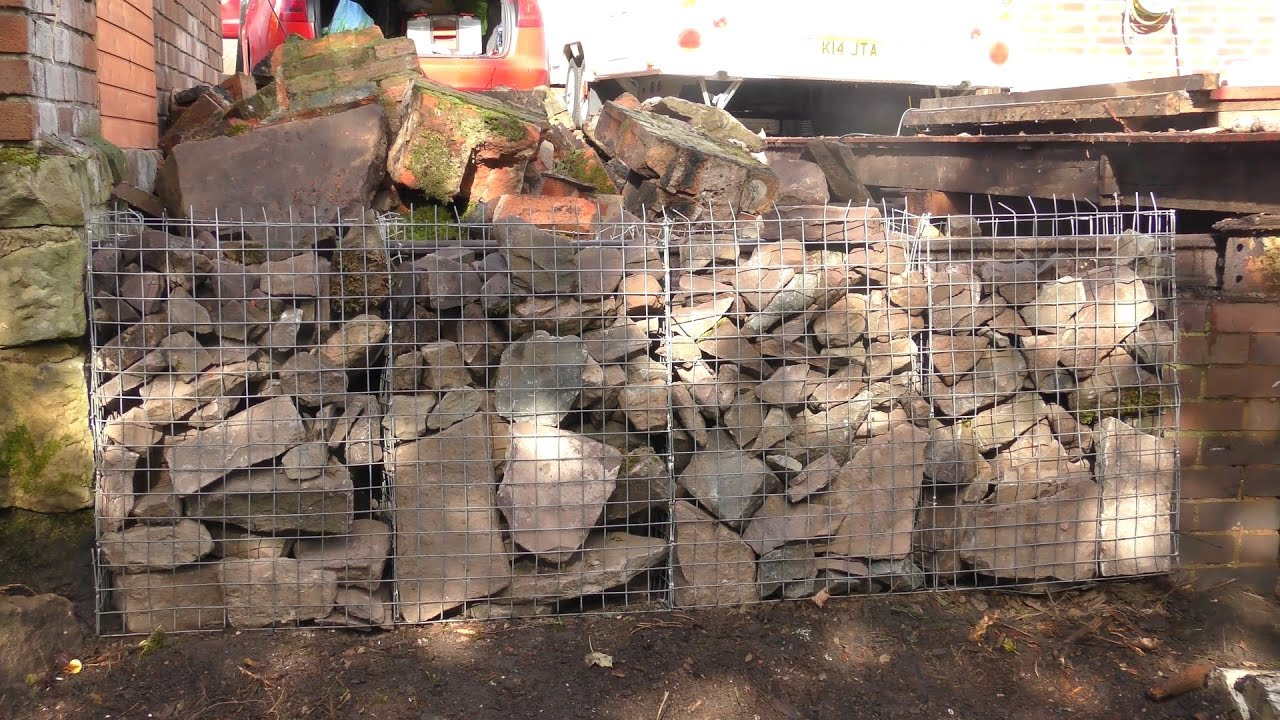Make your own Gabion baskets - YouTube