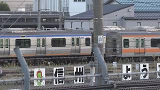 廃車置場に置かれている相鉄10000系、長野総合車両センター。