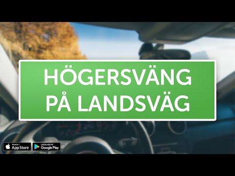 ÖVNINGSKÖR - Högersväng på landsväg