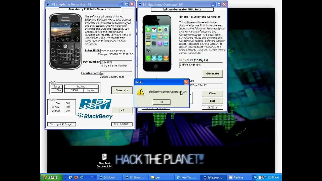 spy phone generator