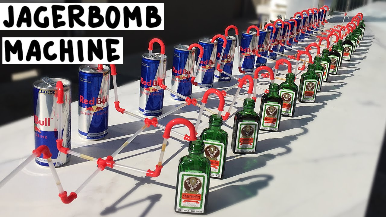 The Jagerbomb Machine Tipsy Bartender Youtube