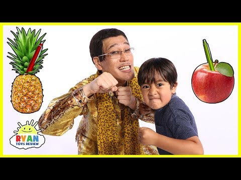 PPAPPen Pineapple Apple Pen Challenge Ryan VS PIKOTARO