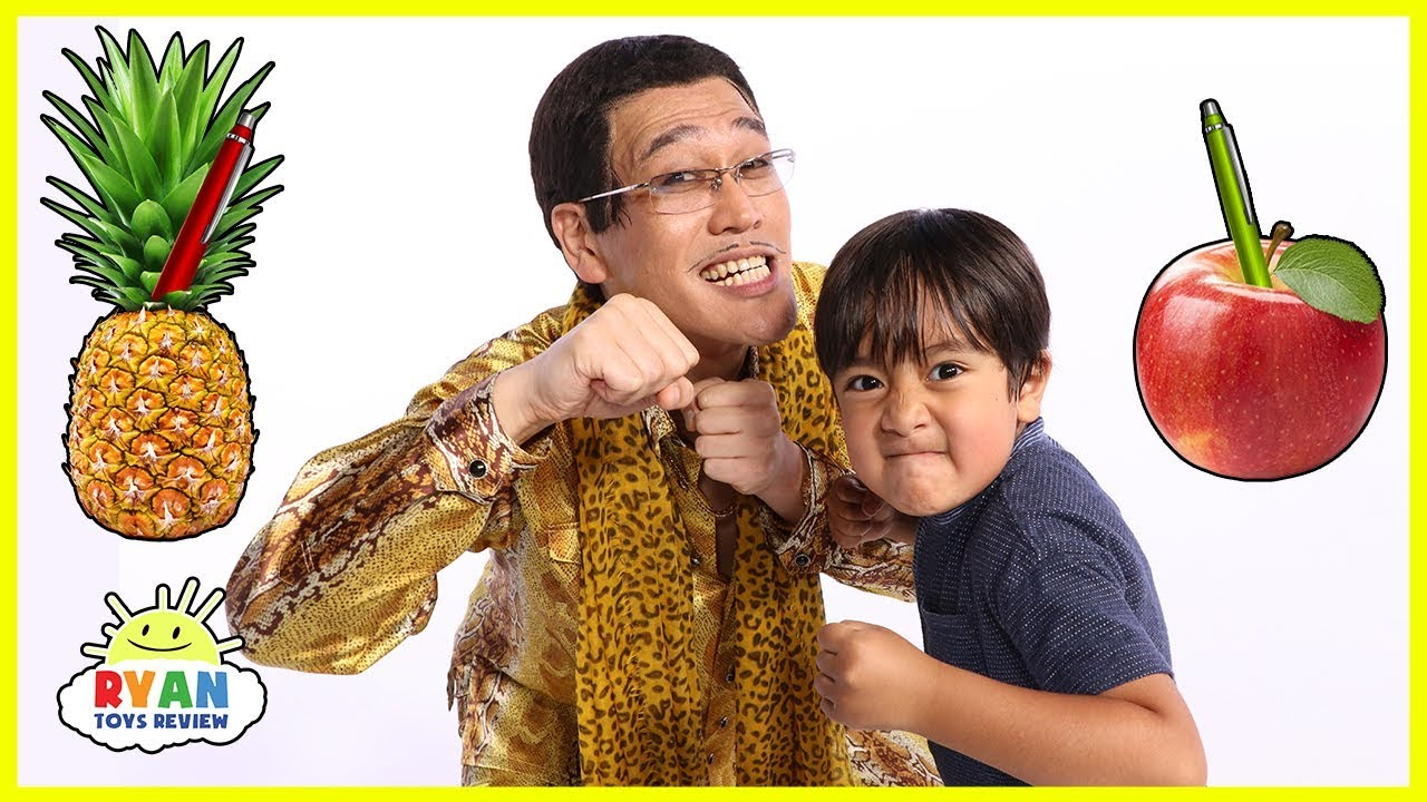 PPAP(Pen Pineapple Apple Pen) Challenge Ryan VS PIKOTARO