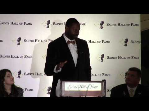 Former Saints QB Aaron Brooks inducted into Saints Hall of Fame- Nov 14, 2014