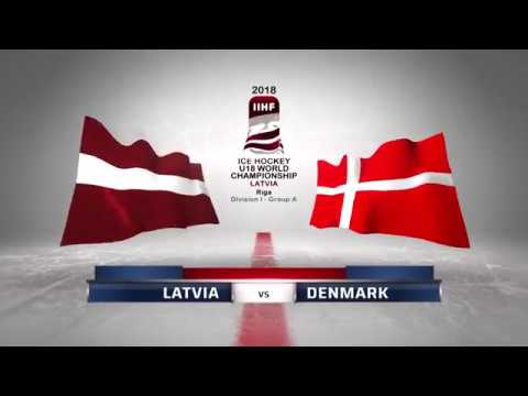 LATVIA - DENMARK 4-1 Highlights /2018 IIHF World Ice Hockey Championship U18 Division I /