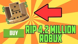 Roblox Buying the Gold Domino Crown for 4.2 Million Robux