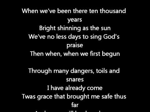 Elvis Presley- Amazing Grace- Lyrics On Screen