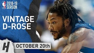Derrick Rose VINTAGE Full Highlights Wolves vs Mavericks 2018.10.20 - 28 Pts off the Bench
