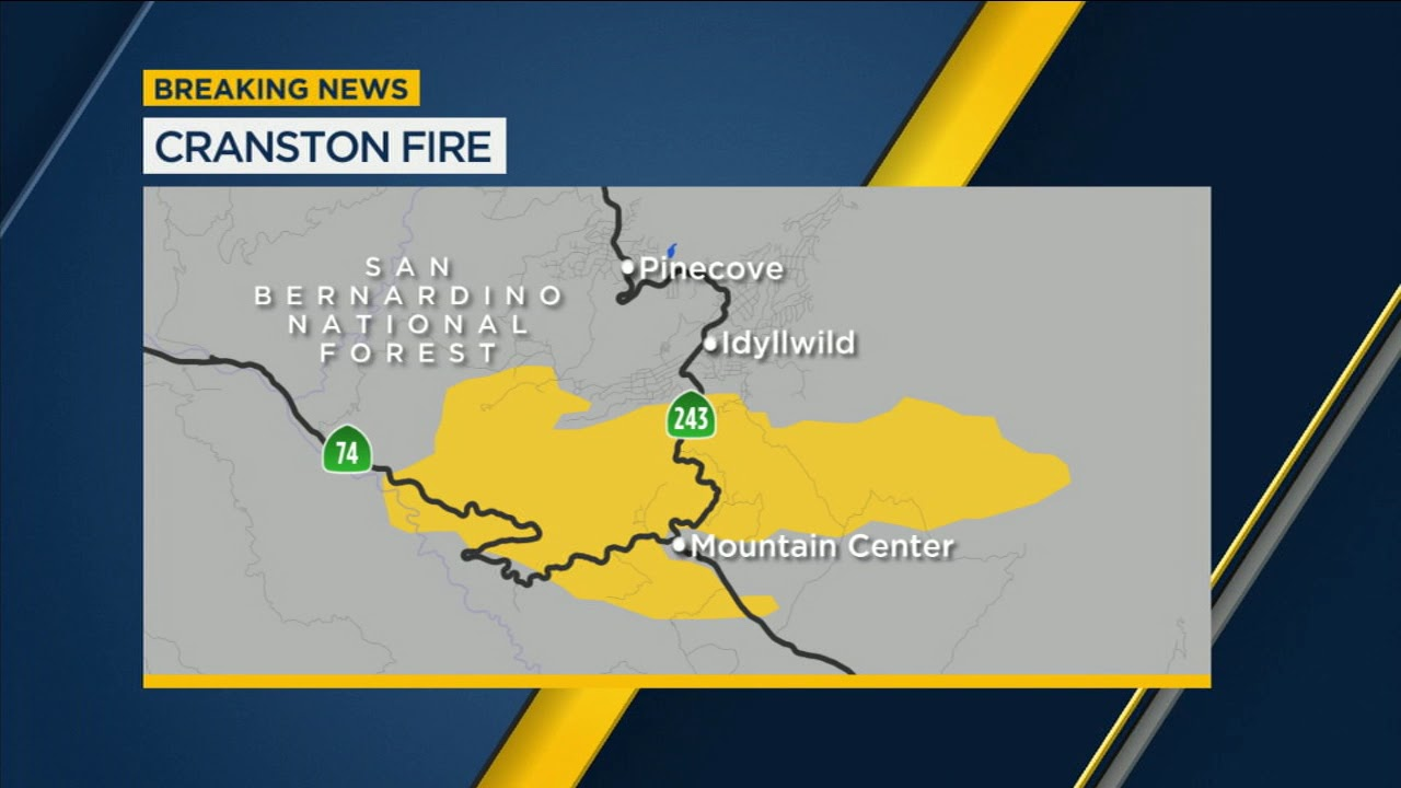 California Brush Fire Map on