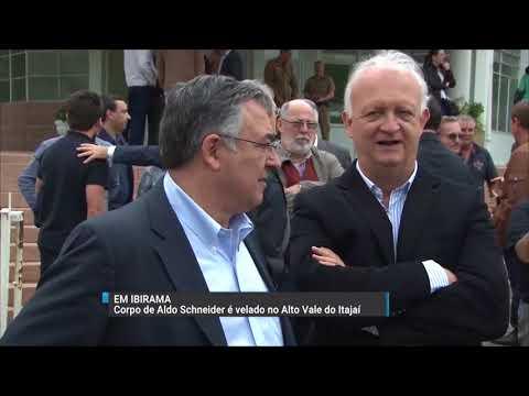 Corpo do deputado estadual Aldo Schneider é velado em Ibirama