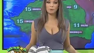 Repeat youtube video weather girl pops out of her top doing star jumps live