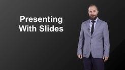 Boyd Branch (U. Kent): Oral Presentations - Using Slides Effectively