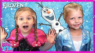 Kids Diana Show and Kin Tin Frozen 2 Pretend Play! Find Elsa's Magic Wand!