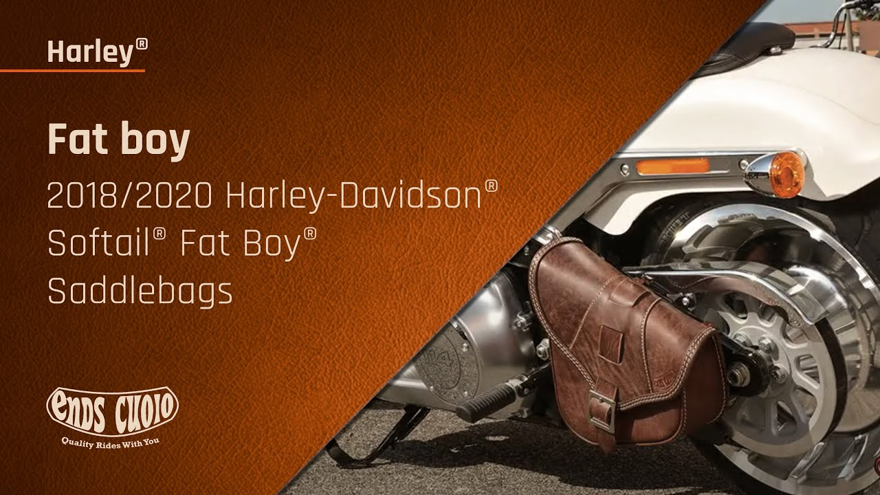 2018 2019 Harley Davidson Softail Fat Boy Saddlebags Ends Cuoio