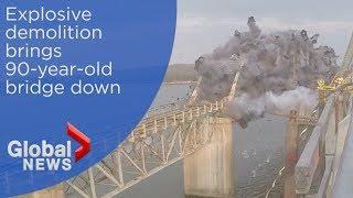 Explosive demolition marks the end of historic Kentucky bridge