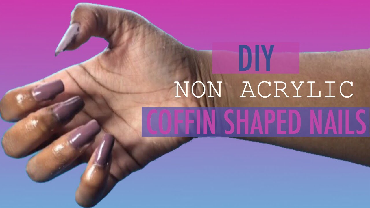 Diy non acrylic coffin shaped nails using corn starch bria allure diy non acrylic coffin shaped nails using corn starch bria allure youtube solutioingenieria Gallery